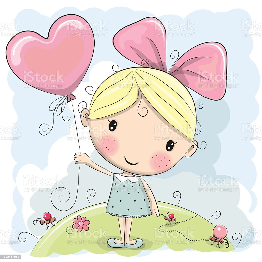 cute cartoon girl stock vector art amp more images of adult