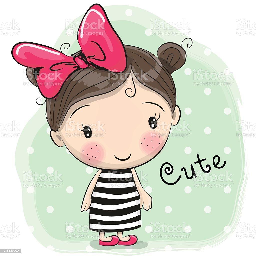 Cute girl cartoon Royalty Free Vector Image - VectorStock