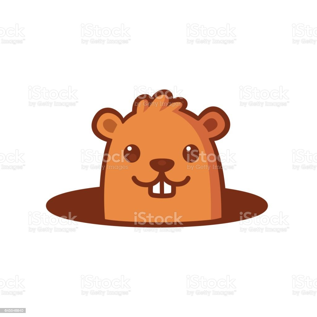 royalty free woodchuck clip art vector images illustrations istock rh istockphoto com Groundhog Shadow Clip Art Animated Groundhog Clip Art