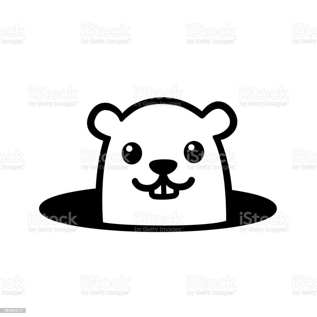 Marmotte de dessin animé mignon - Illustration vectorielle