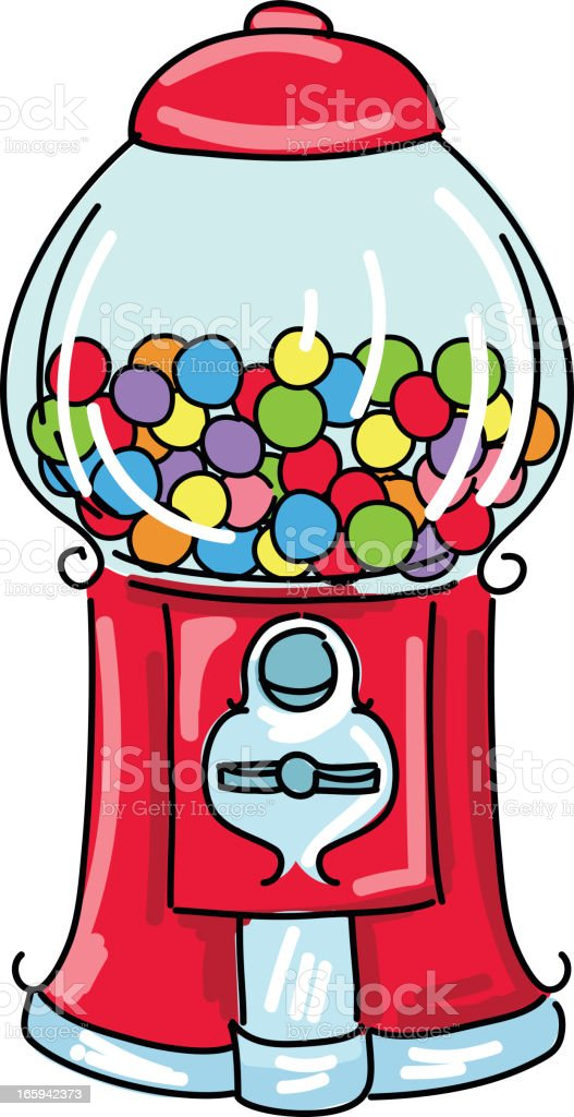 cute cartoon gumball machine stock vector art more images of rh istockphoto com gumball machine clip art free red gumball machine clipart