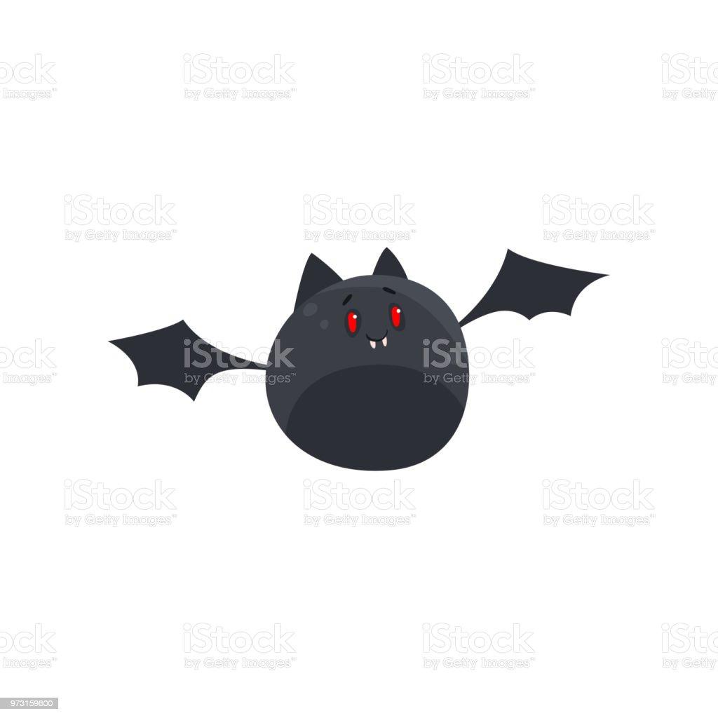 Vetores De Bonito Dos Desenhos Animados Halloween Morcego