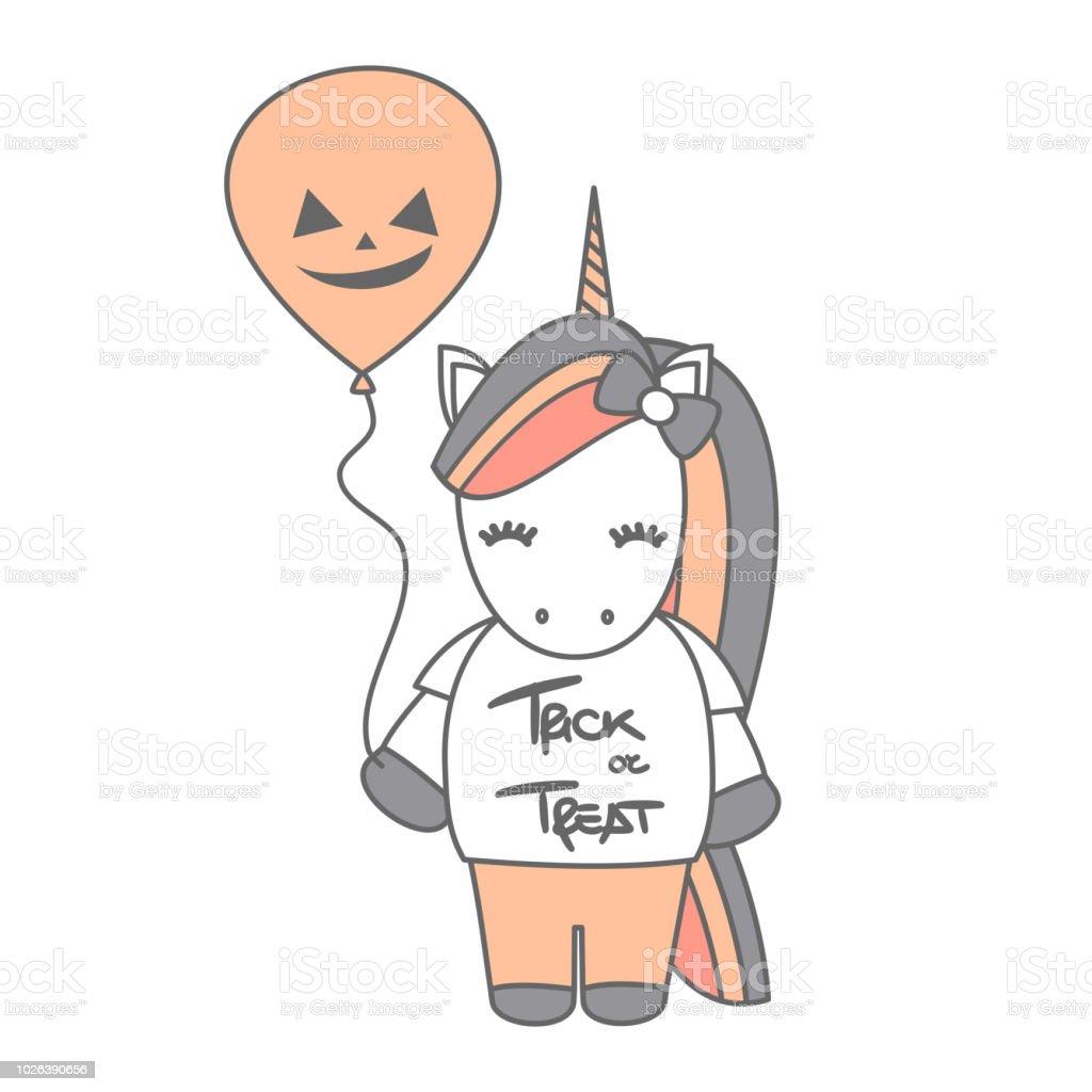 Dessin Animé Mignon Halloween Vector Illustration Avec