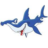 cute cartoon hammerhead shark