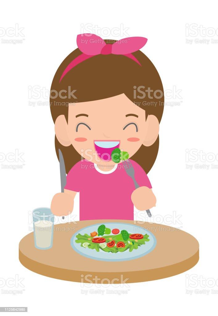 imagenes animadas de niños comiendo saludable