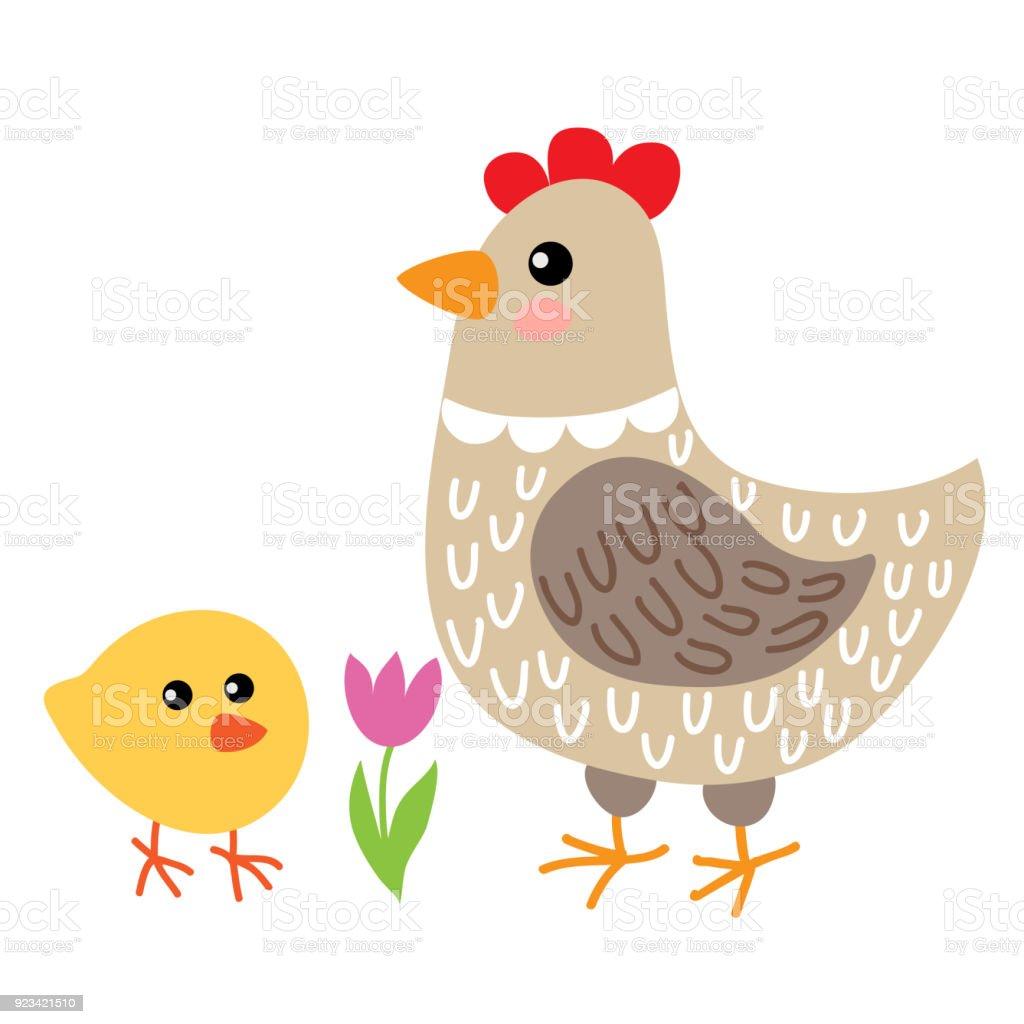 かわいい漫画の鶏鶏肉 いたずら書きのベクターアート素材や画像を多数