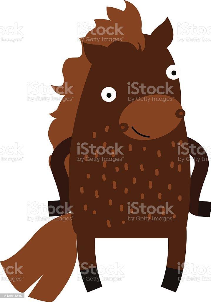 Cute Cartoon Horse Farm Animal Mammal Character Clip Art Vector Stock Illustration Download Image Now Istock