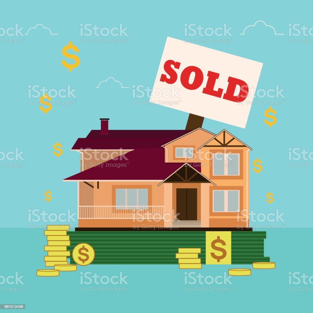 Maison à vendre ou à louer à plat style staing sappuyant sur l