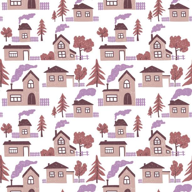 Vectores de étnico Retro Color Doodle Seamless Pattern Del árbol De ...