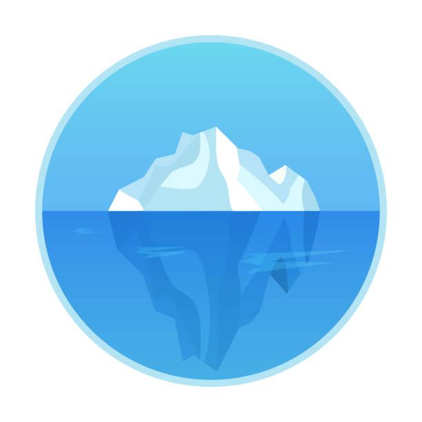 ilustrações de stock, clip art, desenhos animados e ícones de cute cartoon iceberg isolated on a white background. flat style. vector illustration. - iceberg