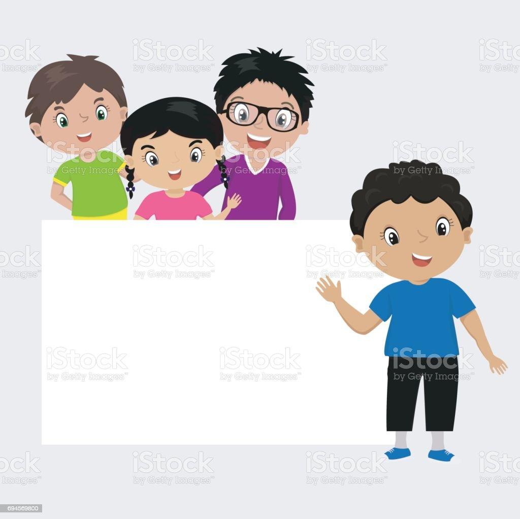Niedlichen Cartoon Kinder Rahmen Stock Vektor Art und mehr Bilder ...
