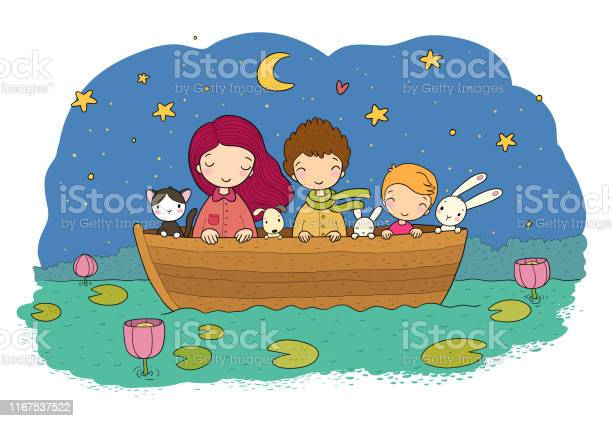 Cute cartoon kids in the boat sister and brothers funny hares and a vector id1167537522?b=1&k=6&m=1167537522&s=612x612&h=ei7asgr7specouaoqa5eht4wxoqhd1 hsqnrnvsmyj8=