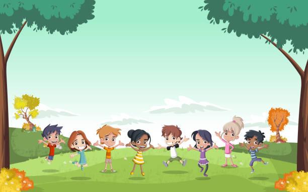 ilustrações, clipart, desenhos animados e ícones de bonito desenho de crianças - dia das crianças