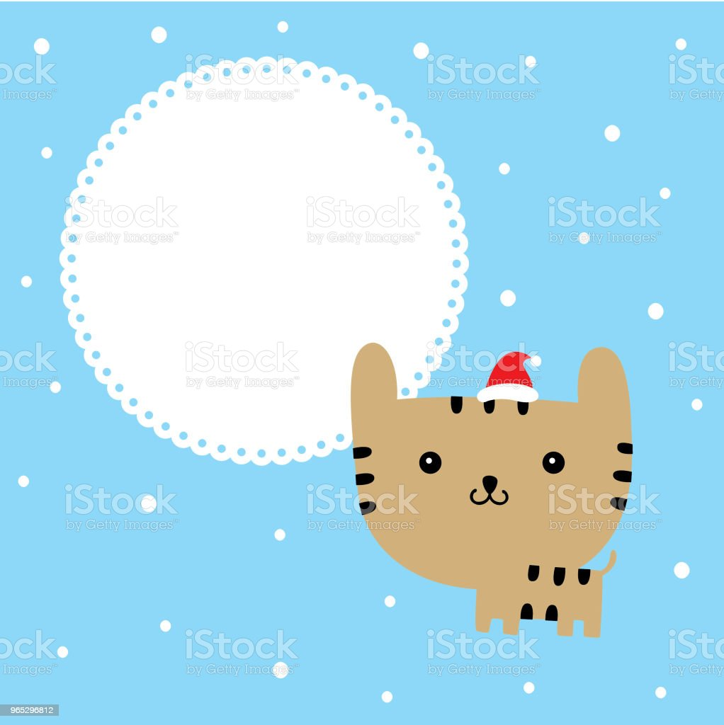 cute cartoon kitten merry christmas greeting card vector royalty-free cute cartoon kitten merry christmas greeting card vector stock vector art & more images of animal