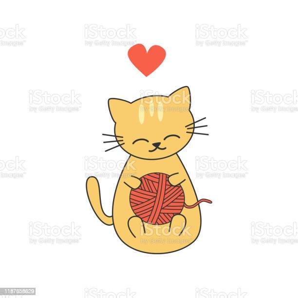 Cute cartoon kitten playing with a wool ball funny vector vector id1187658629?b=1&k=6&m=1187658629&s=612x612&h=tensmcbng6feaooti zraynd52schzx8nmw3wqt0a3q=
