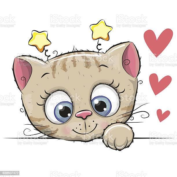 Cute cartoon kitten vector id638507472?b=1&k=6&m=638507472&s=612x612&h=cubx 9p8mrqki94qzsmvb61e8p9itis3i1ggrk3vygi=