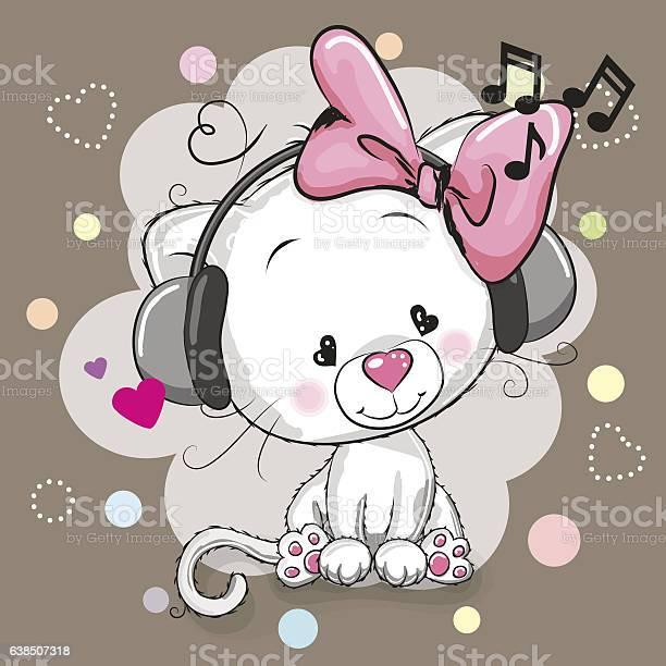 Cute cartoon kitten with headphones vector id638507318?b=1&k=6&m=638507318&s=612x612&h=fjaqkfypmelvyw2truq5kwowoezdojzdhw3vtmqvzgs=