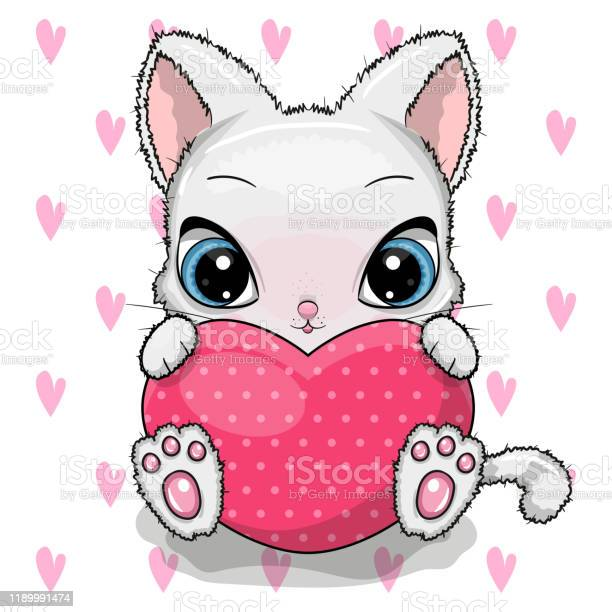 Cute cartoon kitten with heart isolated on a white background vector id1189991474?b=1&k=6&m=1189991474&s=612x612&h=wz8is9uksoscxw 5nwsaxix87g0p rvedktceilwqwy=