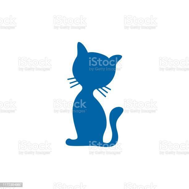 Cute cartoon kitty cat silhouette vector id1172354997?b=1&k=6&m=1172354997&s=612x612&h=cruimwxidnokbnysntjbnqcmltavugckwox7ooe6wfs=
