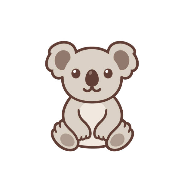 cute cartoon koala - koala stock illustrations
