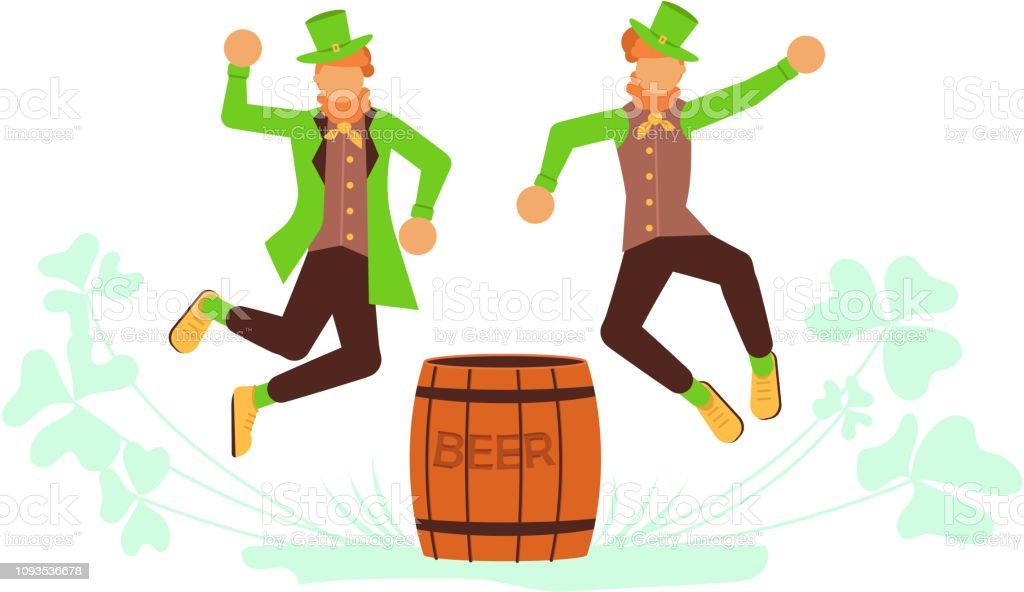 Cute Cartoon Leprechauns Stock Illustration Download Image Now Istock
