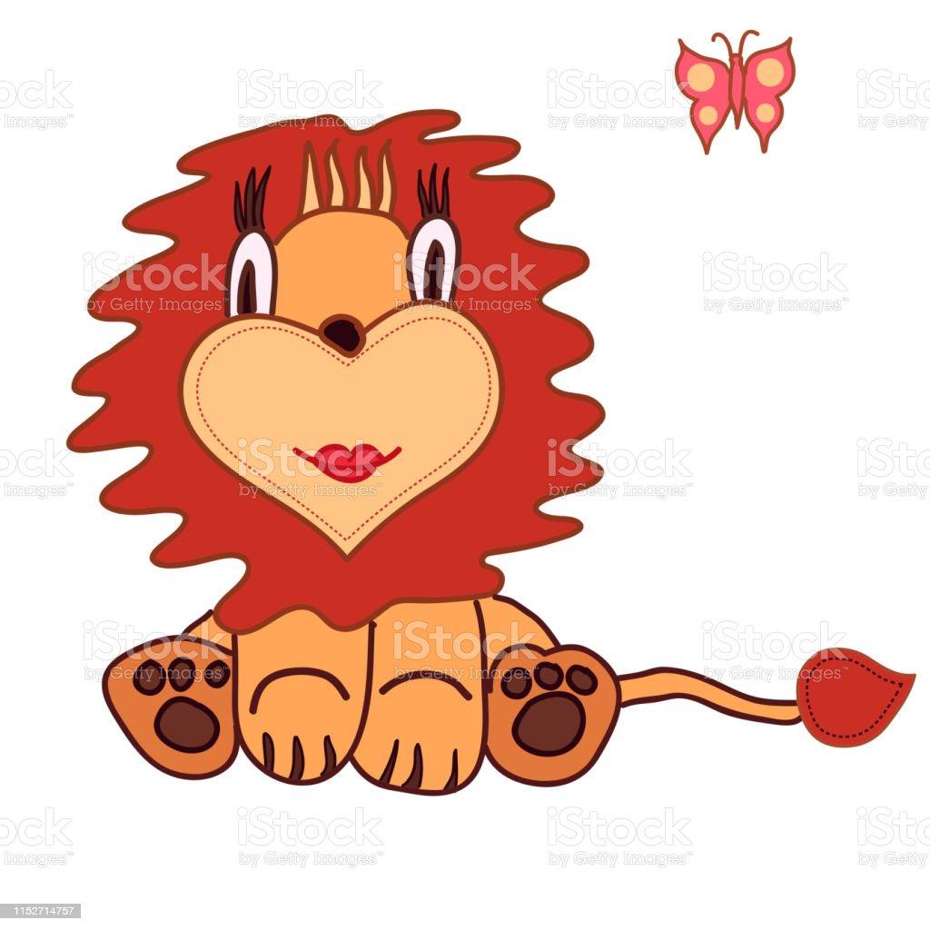 Lion De Dessin Animé Mignon Petit Roi Illustration Pour Les