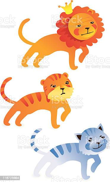 Cute cartoon lion tiger cat vector id118725664?b=1&k=6&m=118725664&s=612x612&h=pib cdgeoztmonxxkm c kaqnacwo8owydnpsukvmgq=