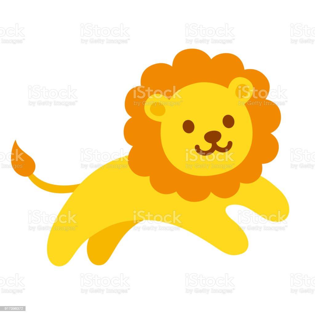 royalty free lion cub running clip art vector images rh istockphoto com cartoon lion cub clipart cute lion cub clipart