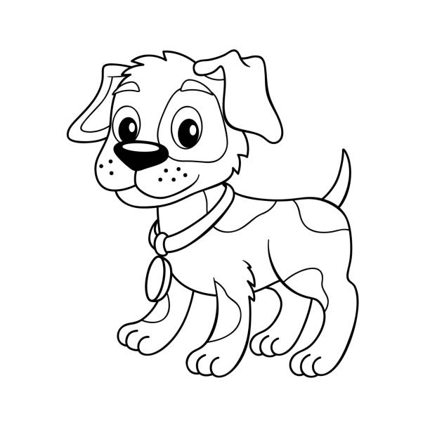 1 322 Puppy Dog Coloring Pages Illustrations Clip Art Istock