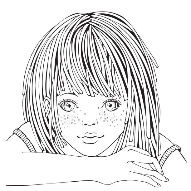 Best Middle School Girls Illustrations, Royalty-Free