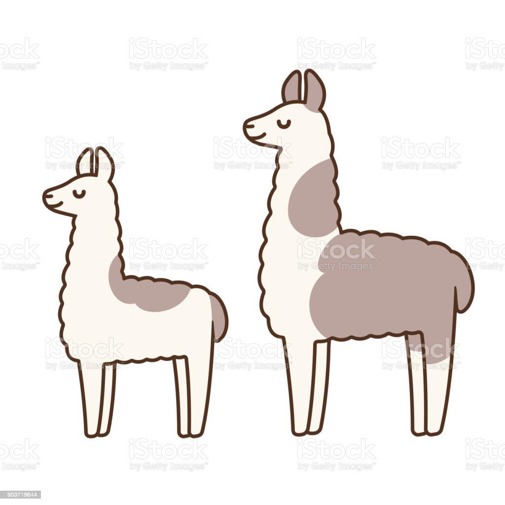 cute cartoon llamas stock vector art & more images of agriculture