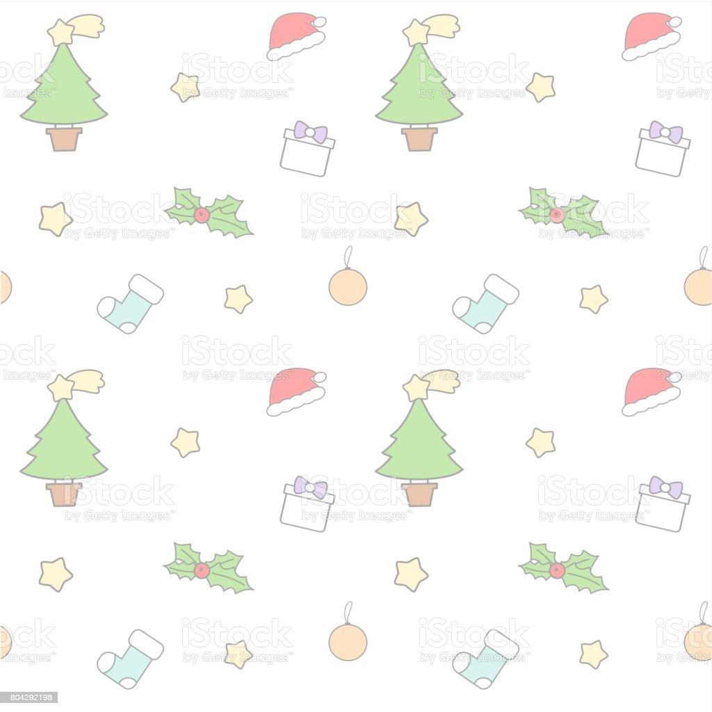 cute cartoon lovely christmas mix seamless vector pattern background illustration vector art illustration