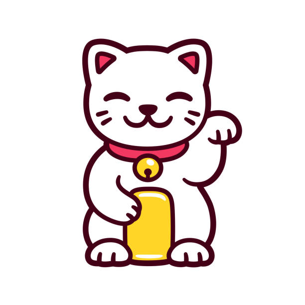 Lucky Cat Vector Art Icons And Graphics For Free Download