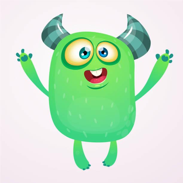 Niedlichen Cartoon Monster. Vektor-Troll oder Gremlin-Charakter. Halloween-design – Vektorgrafik