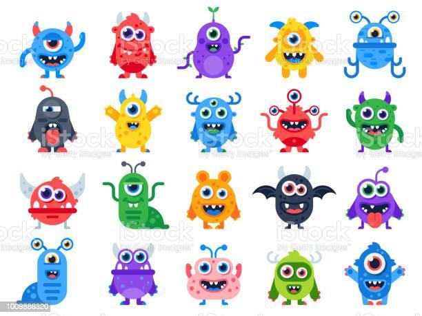 Cute cartoon monsters comic halloween joyful monster characters funny vector id1009886320?b=1&k=6&m=1009886320&s=612x612&h=ac4d4mcaaqcl t9bvgexdrm0uhm9s5htot3vq4xl2p8=