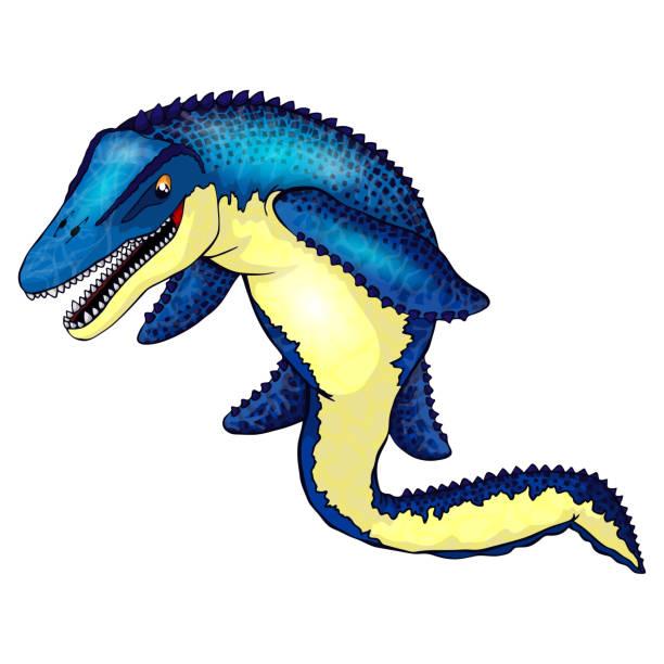 royalty free mosasaur clip art vector images