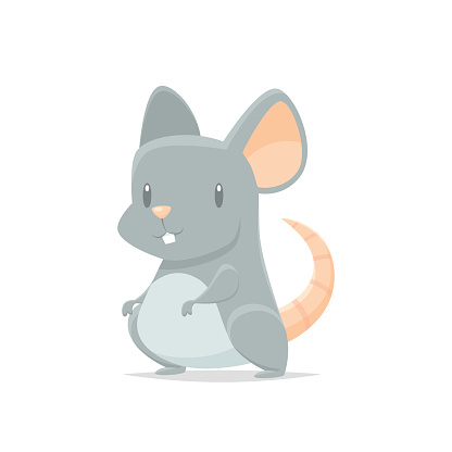Cute Cartoon Mouse Vector Isolated Stock Illustration ...