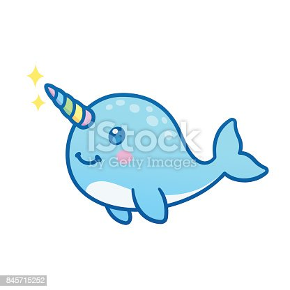 Cute Cartoon Narwhal Stock Vector Art & More Images of ...