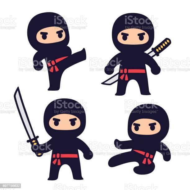 Cute cartoon ninja set vector id697756632?b=1&k=6&m=697756632&s=612x612&h=n69vr8obrjuch72if8kvsgkdza3gwftxp yaqsnamma=