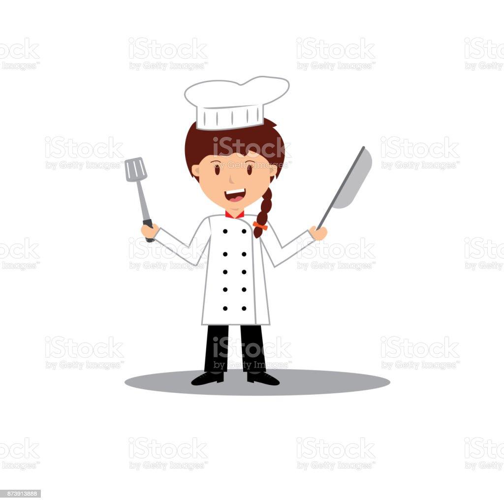Dessin anim mignon de petit chef de cuisine la cuisine - What is a chef de cuisine job description ...