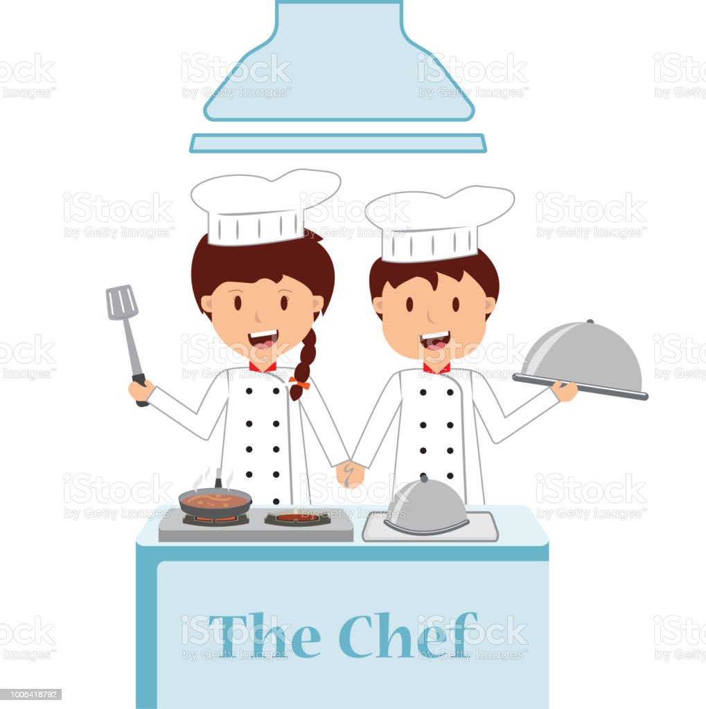 Cute Cartoon Of Little Chef Cooking Stock Illustration Download Image Now Istock