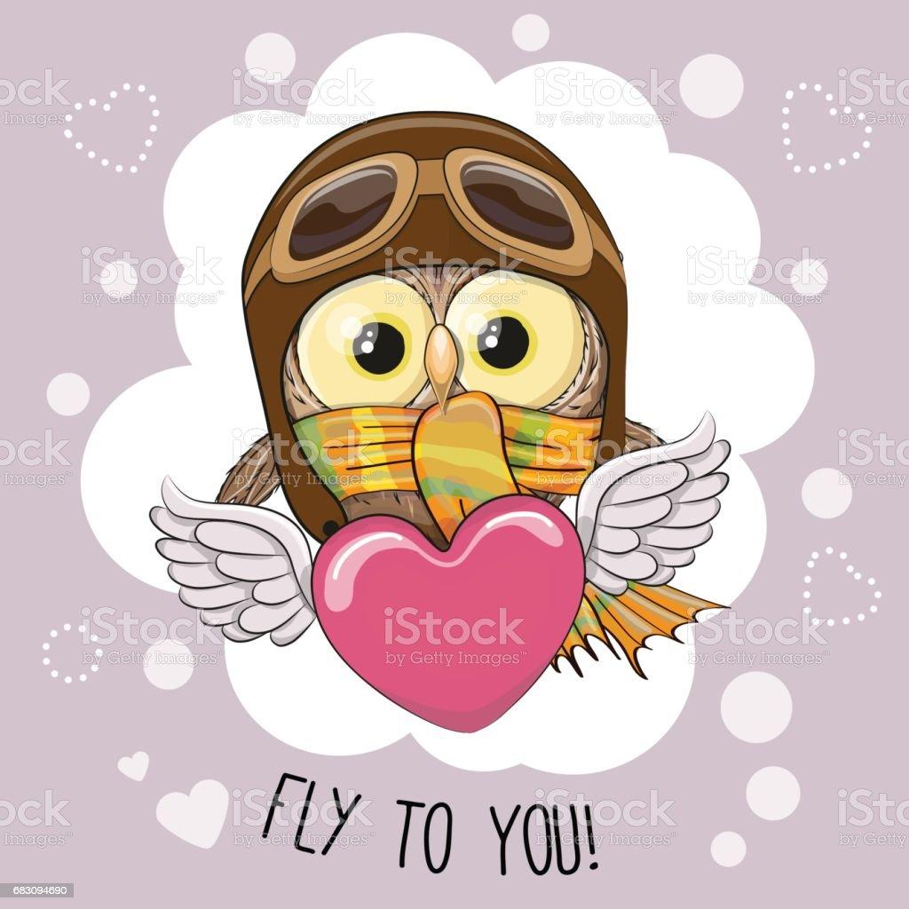 Cute cartoon Owl in a pilot hat cute cartoon owl in a pilot hat - arte vetorial de stock e mais imagens de adolescente royalty-free