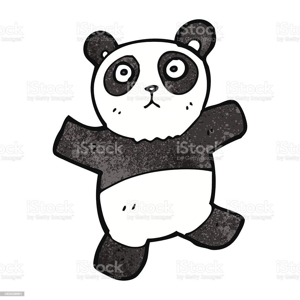 Panda Mignon Dessin Animé Vecteurs Libres De Droits Et Plus