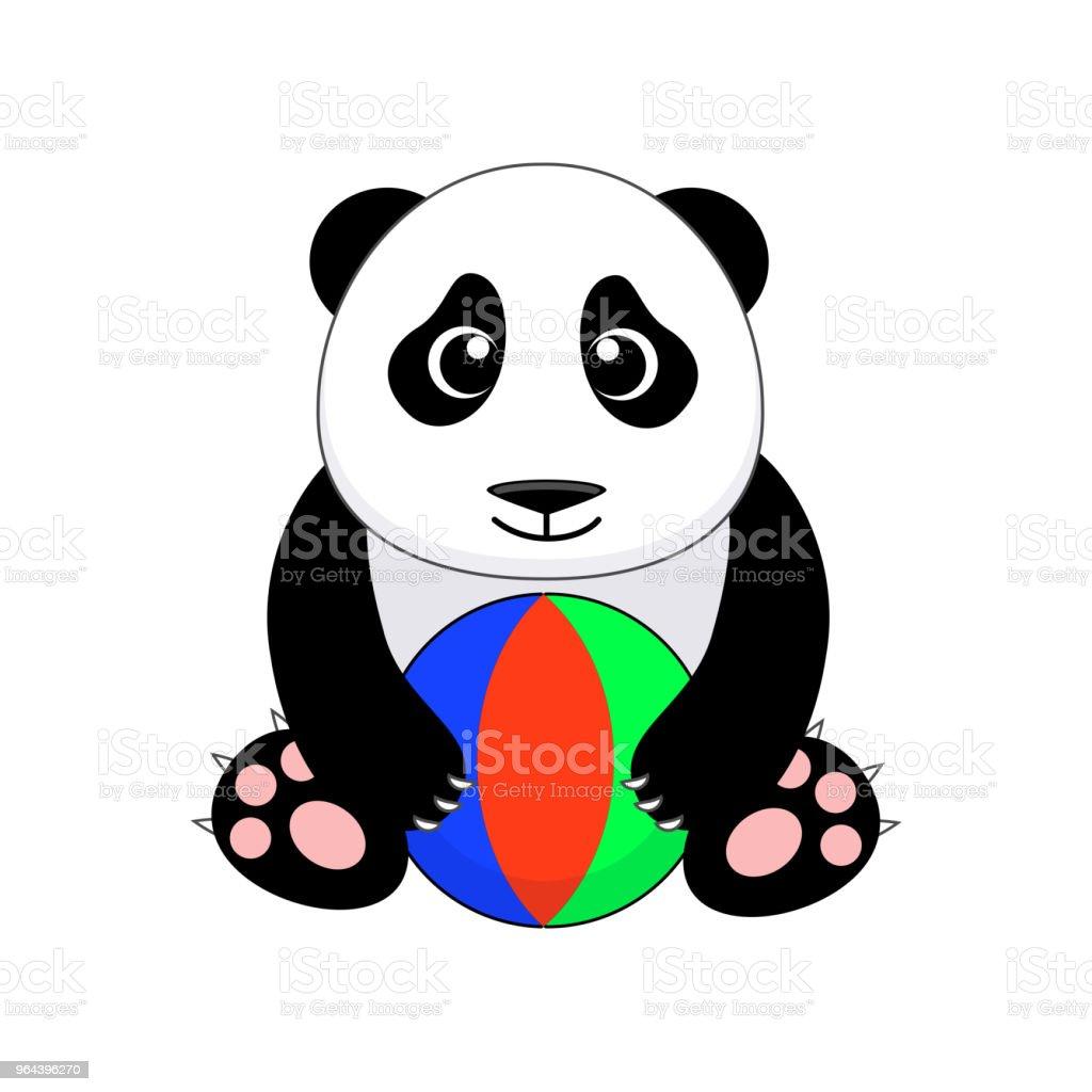 Schattige cartoon panda. Vectorillustratie geïsoleerd op witte backgr - Royalty-free Beer vectorkunst