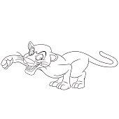 cute cartoon panther