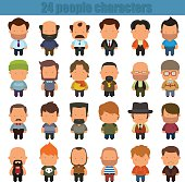 cute cartoon people characters