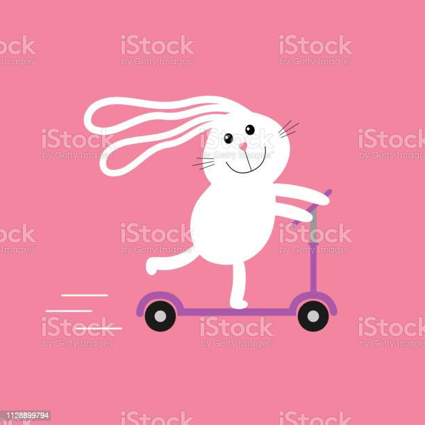 Cute cartoon rabbit hare riding a kick scooter speed line baby pink vector id1128899794?b=1&k=6&m=1128899794&s=612x612&h=hu4gwnup zshhwxrblf4ywff4xgvewopfxcpl8ux51q=
