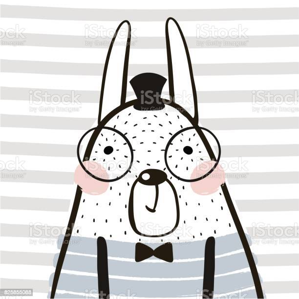 Cute cartoon rabbit in scandinavian style childish print for nursery vector id825855088?b=1&k=6&m=825855088&s=612x612&h=6zxd2e5geauol ut5bgcvx23mttyzyjdwynv dqw5xi=