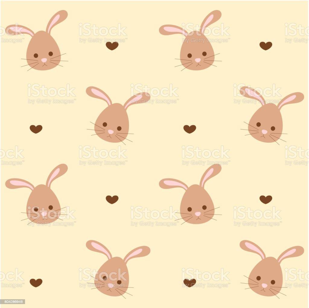 かわいい漫画のウサギのシームレスなベクトル パターン背景イラスト の