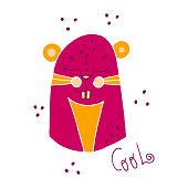 istock Cute cartoon rodent talking - Cool 1326667574